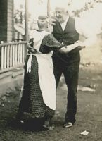 John Adam Wehrwein dancing with his wife Dorthea Stoltenberg in a rare moment of frivolity